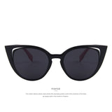 Retro Pierced Cat Eye Women Sunglasses