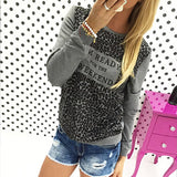 Leopard Loose Long Sleeve T-Shirt - J20Style - 2