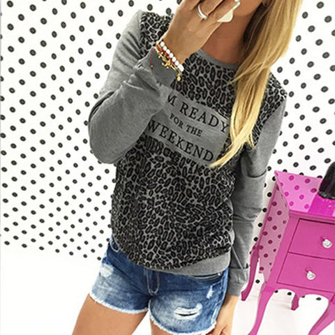 Leopard Loose Long Sleeve T-Shirt - J20Style - 1