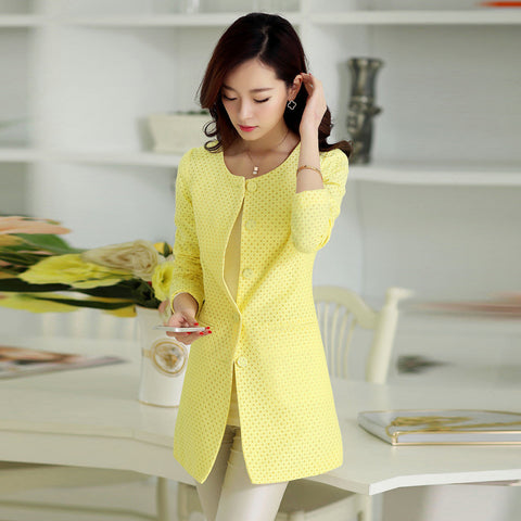 Elegant Slim Trench Coat for Ladies - J20Style - 1