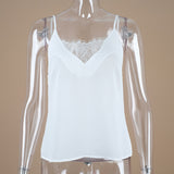 White Lace Thin Cami Tank summer Top