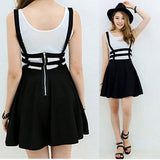 Mini Skirt with Suspenders - J20Style - 2