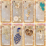 Beautiful Gold and Silver design Rhinestone Cover For Apple iPhone