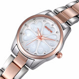 Heart Shape Dial Rhinestone Rose Gold Fashion Watch