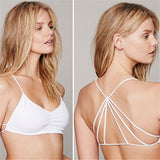 Strappy Caged Back Cut Out Padded Bralette Top