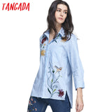 Beautiful Korean Embroidery Blouse Shirt