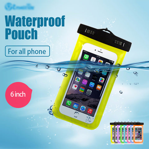 clear transparent waterproof mobile iphone samsung phone pouch covers