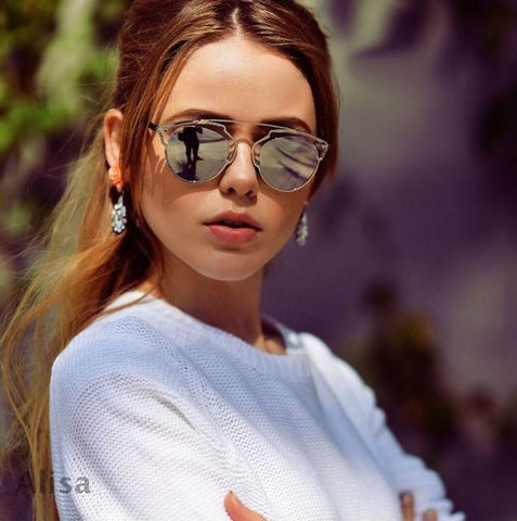 Vintage Metal Cat-Eye Luxury Sunglasses - J20Style - 1