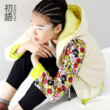 Cotton-Padded Long-sleeve Preppy Style Women Jacket