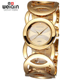 Luxury Crystal Gold Bracelet Quartz Watch