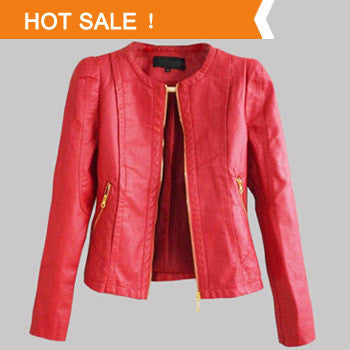 3 Color PU Leather Short Jacket - J20Style - 1