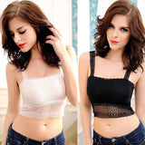 Laced Butterfly Crop Top Vest Camisole