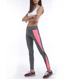 Women High Waist Pink Grey Sexy Workout Leggings