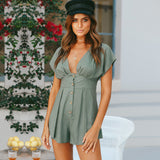 Summer V Neck Sleeveless Romper