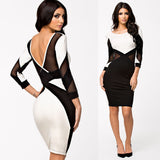 Long Sleeve Sexy V Shape Club Dress