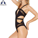Cross Pattern One piece monokini Beach Wear Suimsuit
