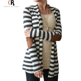 Black & White Long Sleeve Jersey Cardigan with Elbow Patching