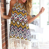Chiffon Sheath Printed Beach Dress - J20Style - 5