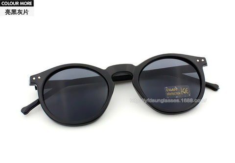 Classic Vintage Inspired P3 Horned Rim Round Mercury Mirror Sunglasses