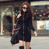 Ladies Slim And Zipper Bodycon - J20Style - 3