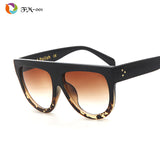 Woman Flat Top Sun Glasses Cat Eye Sunglasses