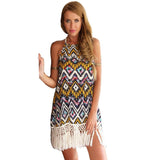 Chiffon Sheath Printed Beach Dress - J20Style - 4