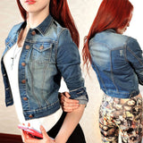 Denim Long Sleeve Slim Outwear - J20Style - 1