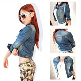 Denim Long Sleeve Slim Outwear - J20Style - 3