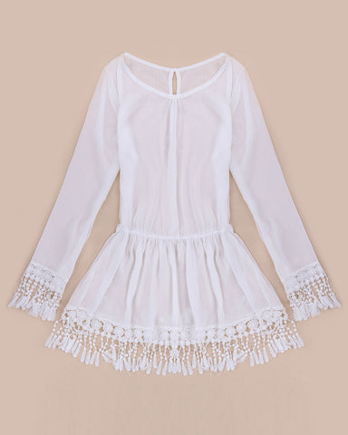 Summer Style Long Sleeve Bohemian Beach Dress - J20Style - 8