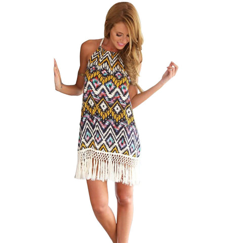 Chiffon Sheath Printed Beach Dress - J20Style - 1
