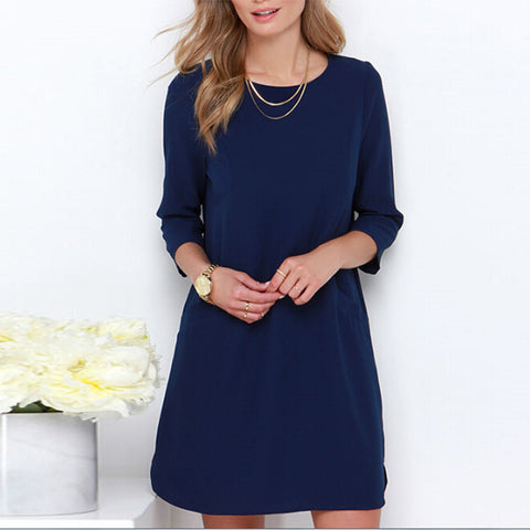 Three-Quarter Sleeve Cocktail Party Dress - J20Style - 1