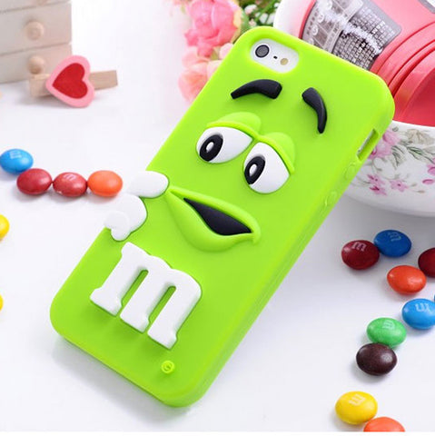 Cute M&M Silicone Case for iPhone 5/5s