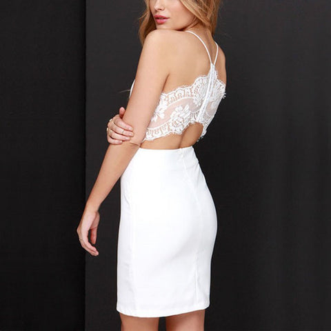 Summer Strap And Backless Slim Bodycon - J20Style - 1