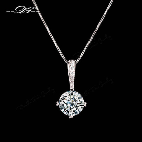 Platinum Plated Crystal Pendant