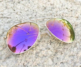 Big Purple Lavender Aviator Sunglasses - J20Style - 2