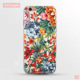 Ultrathin Soft Flowers Daisy Plants Fruit Cactus Leaves pattern Phone Case - iphone 6 6s 7 6plus