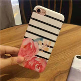 Striped and Flowers Cases for iPhone