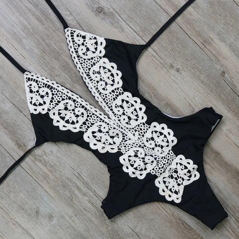 Embroided One Piece Summer SwimSuit