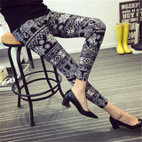 Characters and texture Printed Leggings
