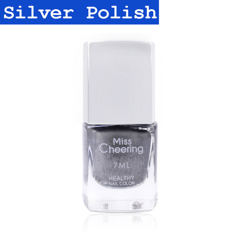 Silver Mirror Nail Polish with Base