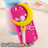 Moon soft silicon case cute protective iPhone cover