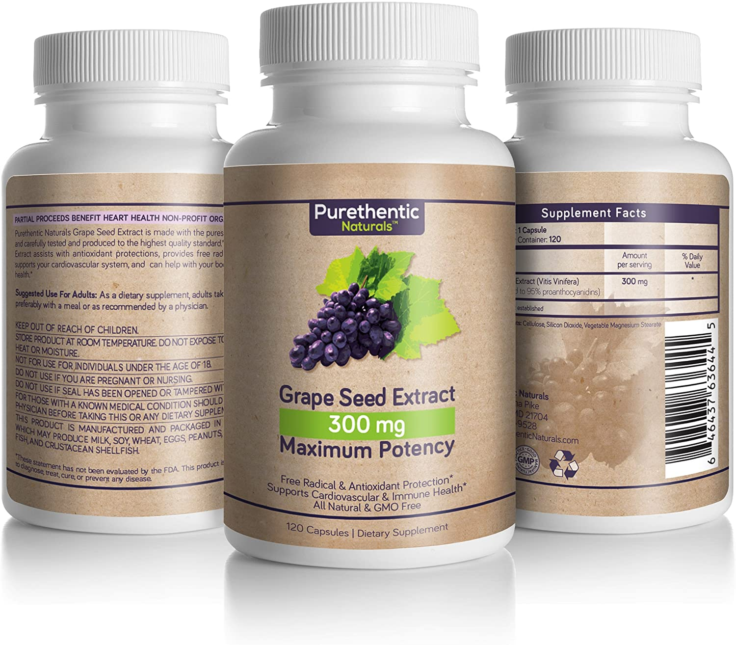 Grape Seed Extract 300mg 120 Count