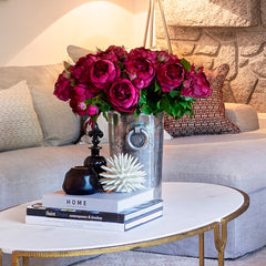 luxury artificial fake silk flowers burgundy english rose with buds lifelike realistic faux flowers buy online from Amaranthine Blooms UK