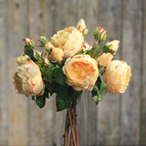 luxury artificial peach english roses