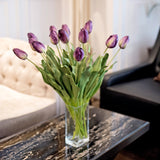 luxury artificial flowers purple tulips