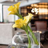 luxury artificial yellow calla lilies