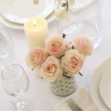 luxury artificial pink rose bud