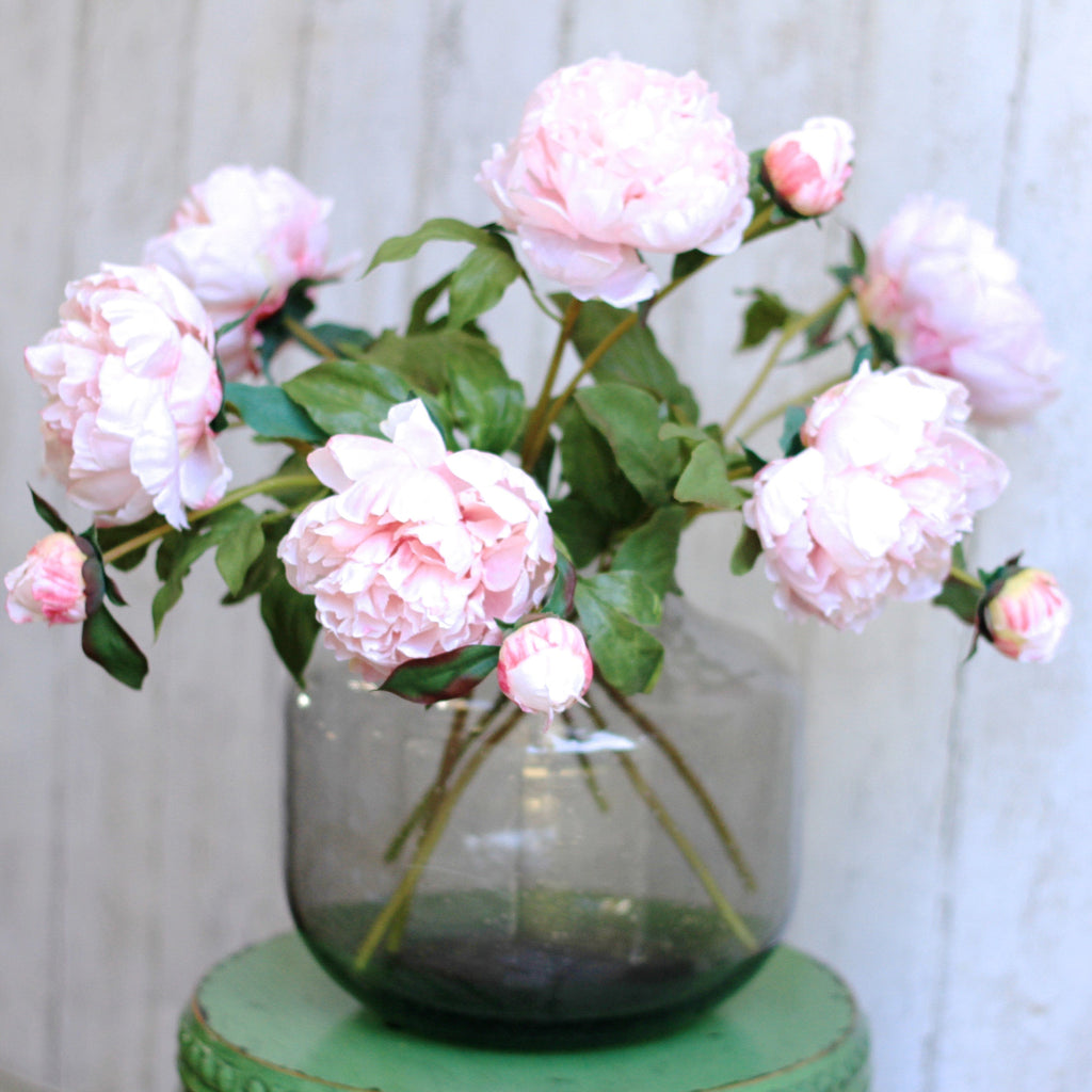 Artificial flowers luxury faux pink open peony lifelike realistic faux flowers buy online from Amaranthine Blooms UK