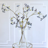 Artificial flowers luxury faux silk blueberry spray lifelike realistic faux flowers buy online from Amaranthine Blooms UK