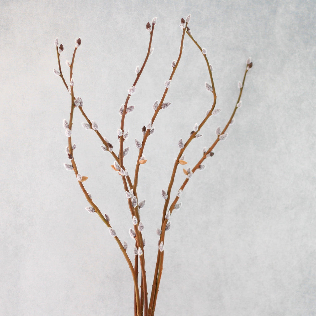 Artificial flowers luxury faux silk brown pussy willow lifelike realistic faux flowers buy online from Amaranthine Blooms UK